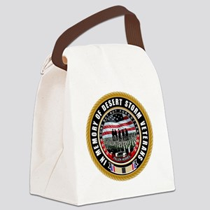 Desert Storm Veterans Canvas Lunch Bag