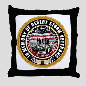Desert Storm Veterans Throw Pillow