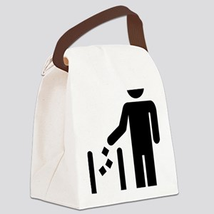 Litter waste garbage Canvas Lunch Bag
