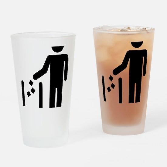 Litter waste garbage Drinking Glass