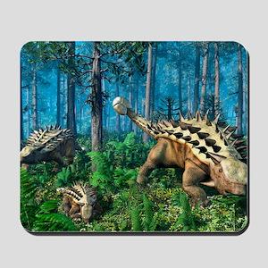 Ankylosaur family, artwork Mousepad