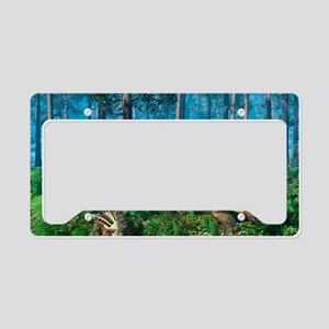 Ankylosaur family, artwork License Plate Holder