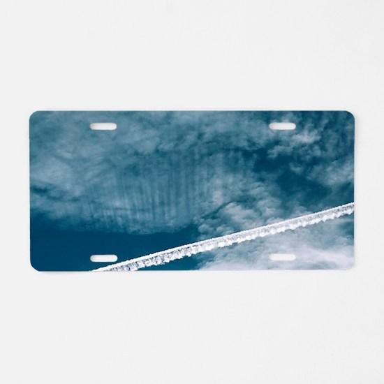Aeroplane contrail Aluminum License Plate