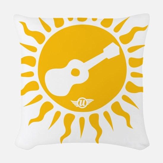 uke are my sunshine Woven Throw Pillow