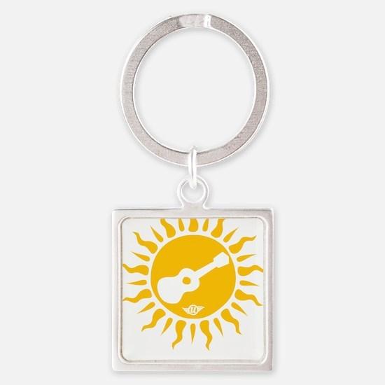 uke are my sunshine Square Keychain