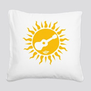 uke are my sunshine Square Canvas Pillow