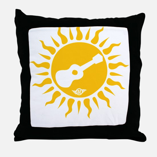 uke are my sunshine Throw Pillow