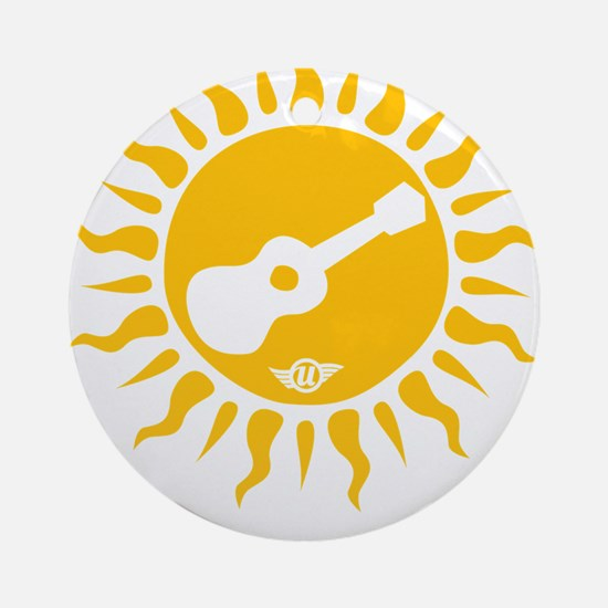 uke are my sunshine Round Ornament