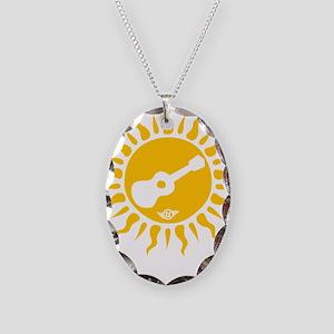 uke are my sunshine Necklace Oval Charm