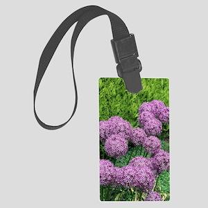 Allium flower Large Luggage Tag