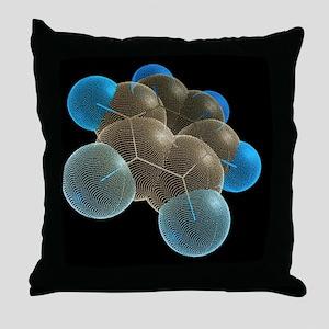 Benzene molecule Throw Pillow