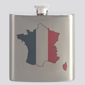 Flag Map of France Flask