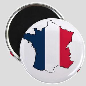 Flag Map of France Magnet