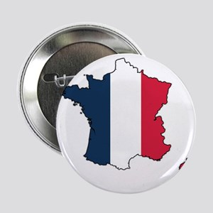 """Flag Map of France 2.25"""" Button"""