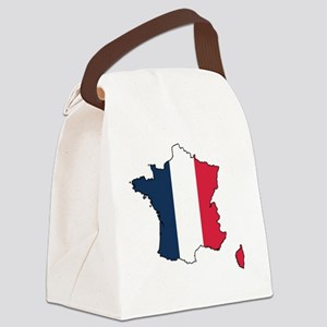 Flag Map of France Canvas Lunch Bag