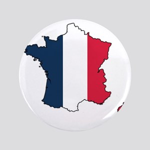 "Flag Map of France 3.5"" Button"