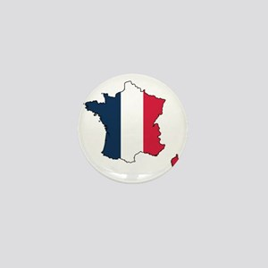 Flag Map of France Mini Button