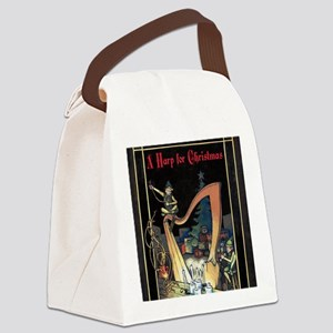 Cover - Harp for Christmas Canvas Lunch Bag