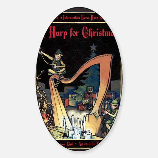 Cover - Harp for Christmas Sticker (Oval)