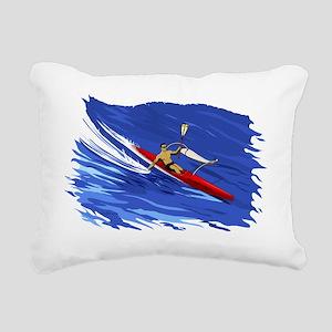 Outrigger Paddling OC-1 Rectangular Canvas Pillow