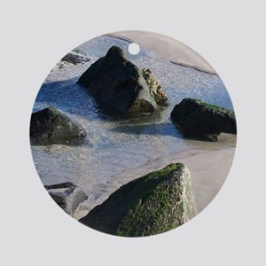Sand, Water  Rock Round Ornament