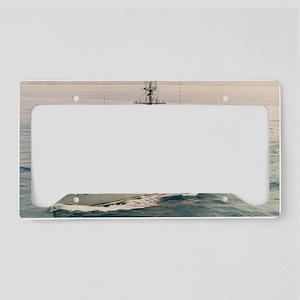uss conflict large framed pri License Plate Holder