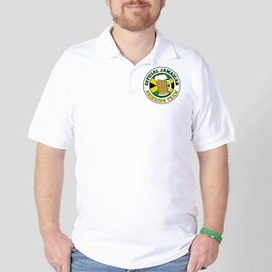 Jamaican Drinking Team Glass Golf Shirt