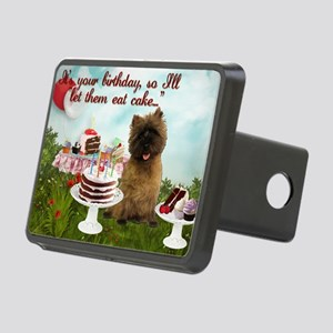Cairn Terrier Happy Birthd Rectangular Hitch Cover