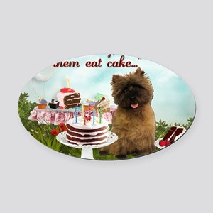 Cairn Terrier Happy Birthday Oval Car Magnet