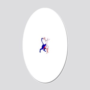 An American Cat 20x12 Oval Wall Decal