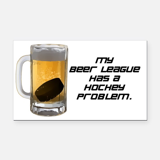 Hockey Problem Rectangle Car Magnet