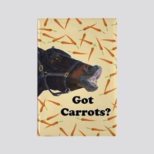 Cute Got Carrots? Horse Rectangle Magnet