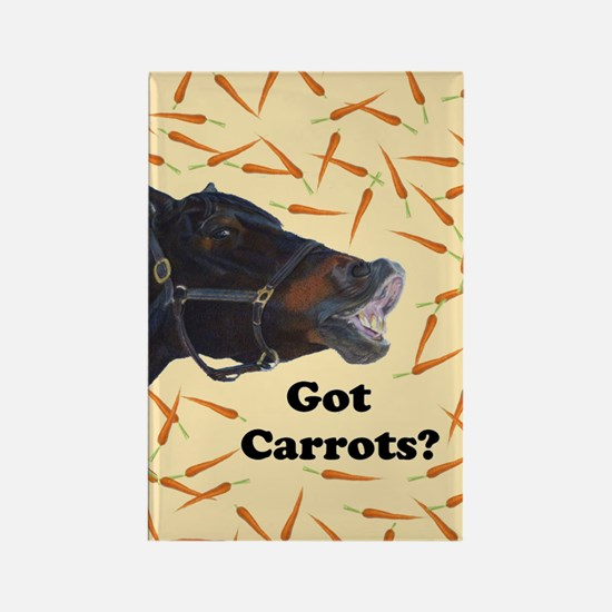 Cute Got Carrots? Horse Rectangle Magnet