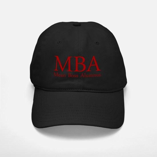 MBA - Mean Boss Alumnus (Red) Baseball Hat