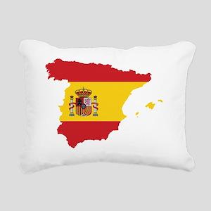 Flag Map of Spain Rectangular Canvas Pillow