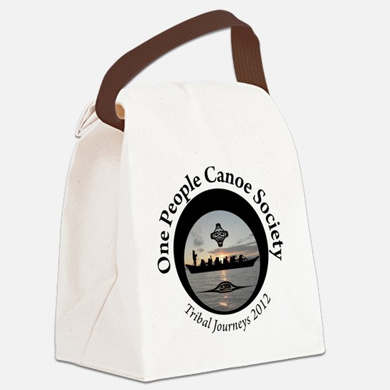 One People Canoe Society Tribal J Canvas Lunch Bag