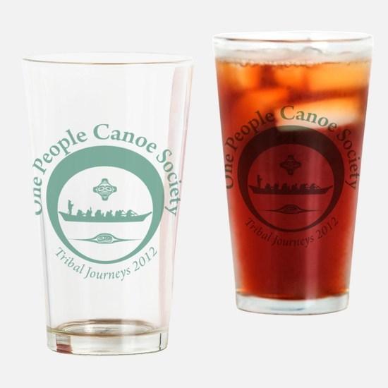 One People Canoe Society Tribal Jou Drinking Glass