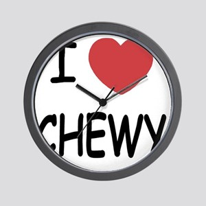 I heart CHEWY Wall Clock