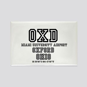 UNIVERSITY AIRPORT CODES - OXD -  Rectangle Magnet