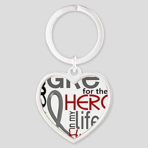 D Husband Heart Keychain