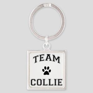 Team Collie Square Keychain