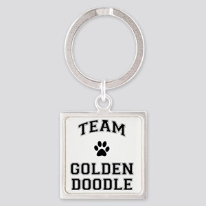 Team Goldendoodle Square Keychain