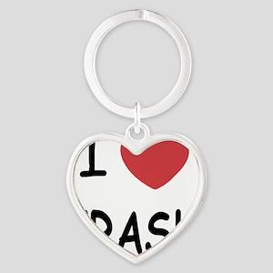 I heart CRASH Heart Keychain