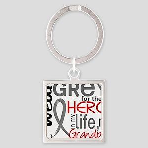 D Grandpa Square Keychain