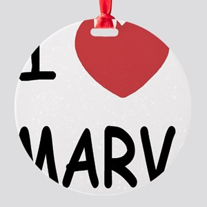 I heart MARV Round Ornament
