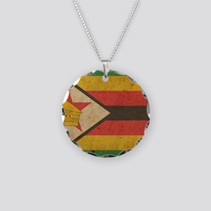 Zimbabwe Necklace Circle Charm