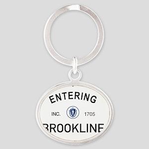 Brookline Oval Keychain