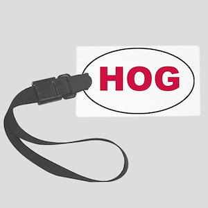 Red HOG Sticker Large Luggage Tag