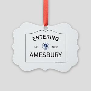 Amesbury Picture Ornament