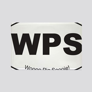 Black WPS Sticker Rectangle Magnet